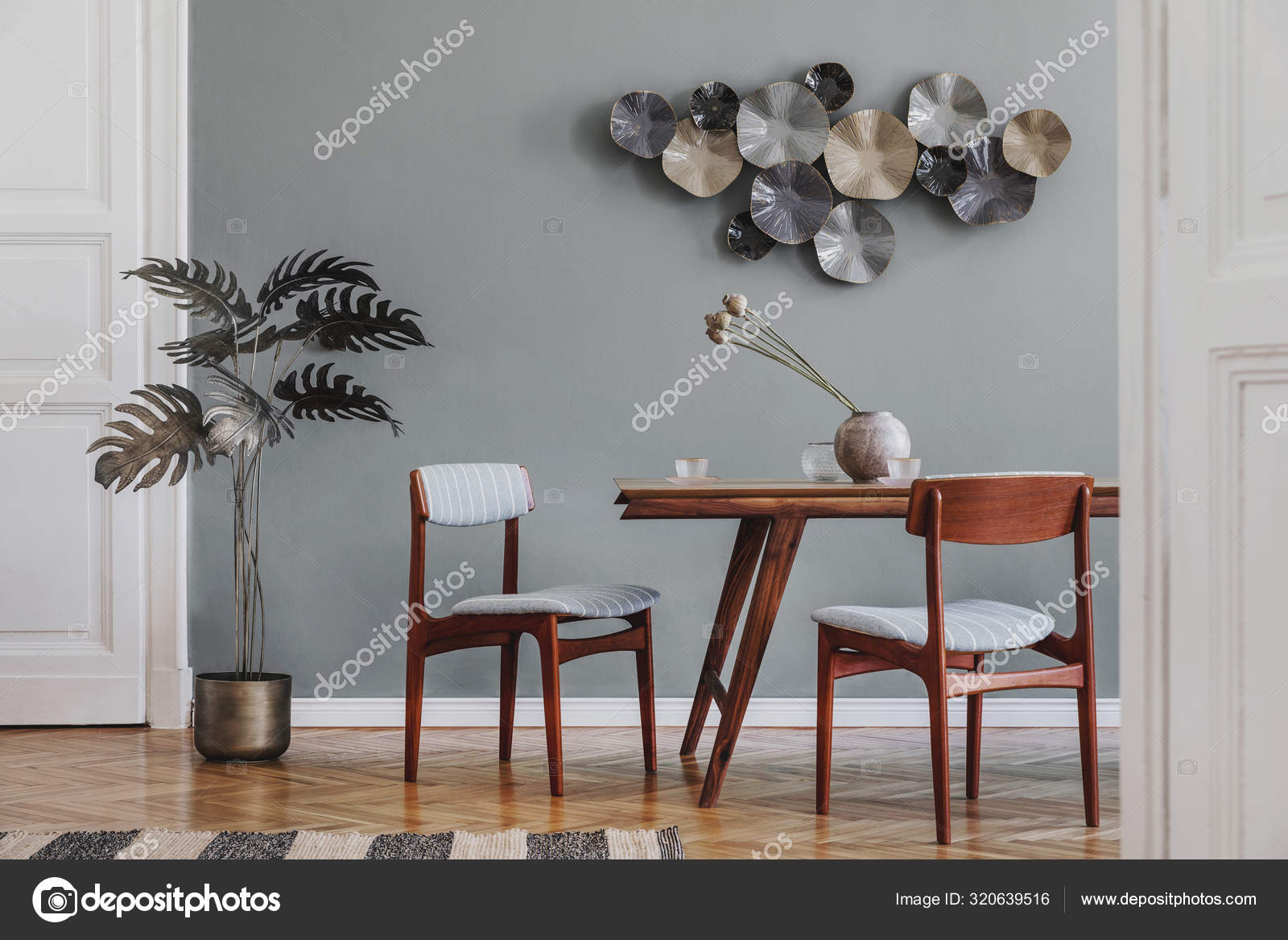 Modern Stylish Dining Room Interior, Stylish Dining Room Chairs