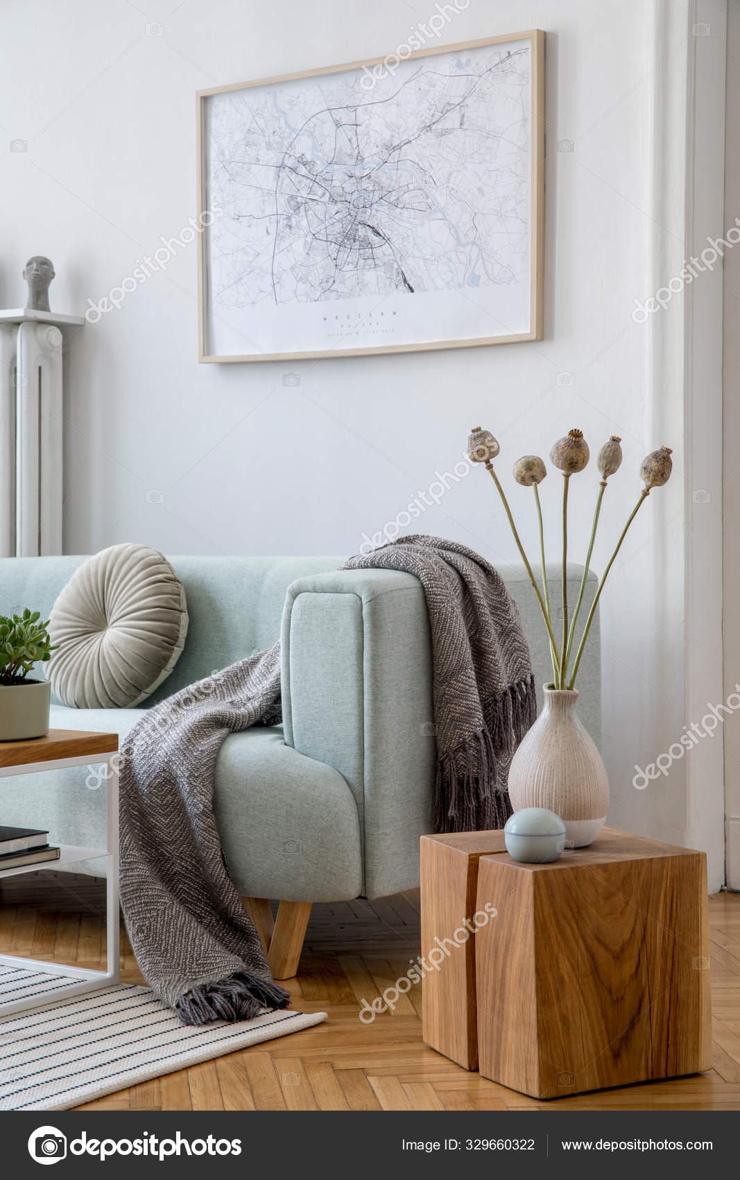 Modern Interior Design Sofa Contemporary Accessories Stylish Living Room Design Stock Photo Image By C Followtheflow 329660322