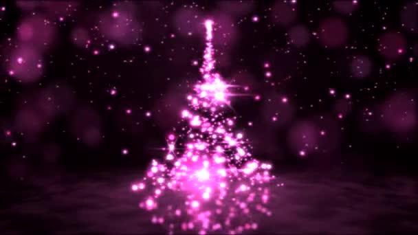 Frizzante rotante dellalbero di Natale animazione - Loop rosa