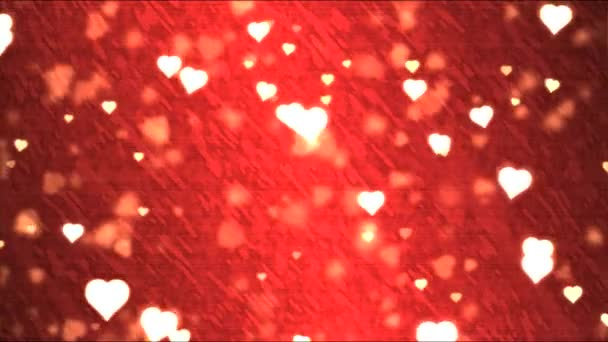 Heart Shape Background Animation - Loop Red