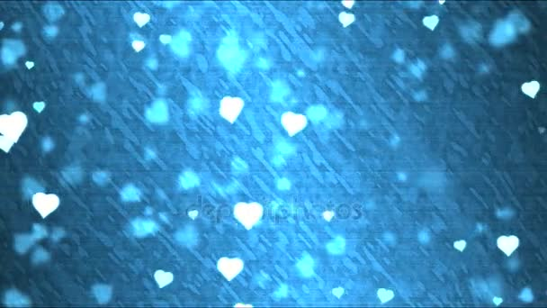 Heart Shape Background Animation - Loop Blue