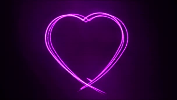 Drawing Heart Shape Motion Background Animation - Loop Purple