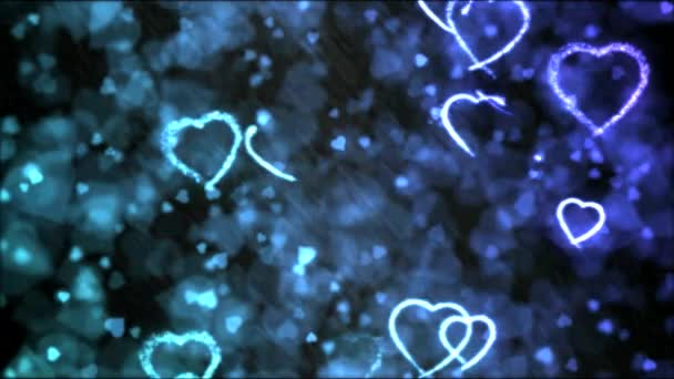 Rajz szív formájú háttérben animáció - hurok szivárvány