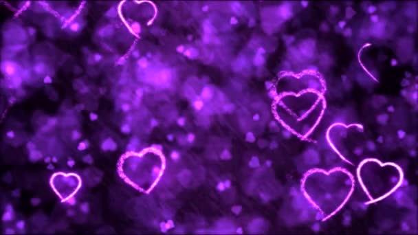 Rajz szív formájú háttérben animáció - hurok lila