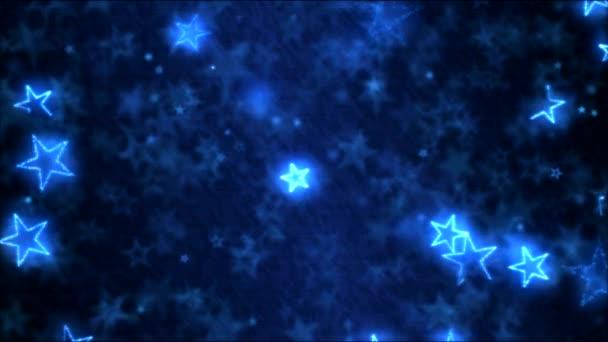 Kreslení hvězdy tvarů pohybu pozadí animace - Loop modrá