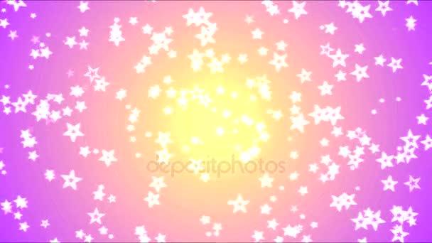 Színes, fényes csillag háttér-animáció - Loop-sárga-Pink
