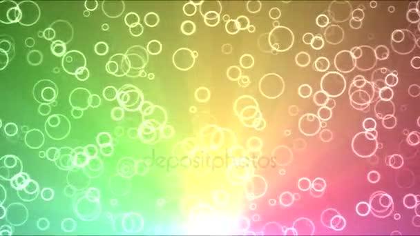 Světlé kruhy pohybové pozadí animace - smyčky duha
