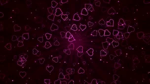 Színes animált szív alakú - hurok rózsaszín