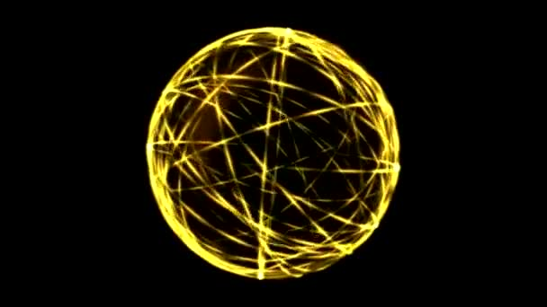 rings scientific sphere loop energy animation yellow depositphotos video stock