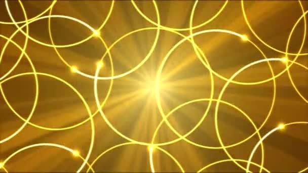 Disegno cerchio forma luci animazione - Golden Loop