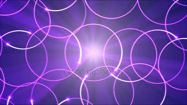 Rajz kör alakú lámpák animáció - hurok lila