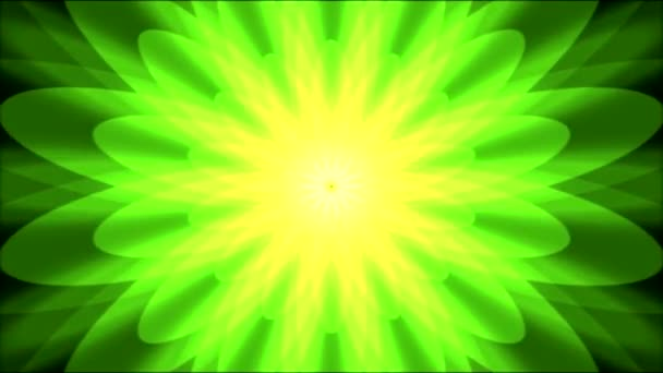 Colorful Bright Growing Shapes Animation - Loop Green