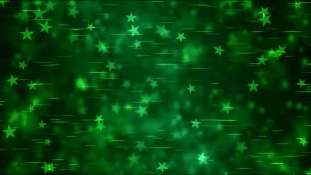 Hvězda obrazec pozadí animace - smyčka Green