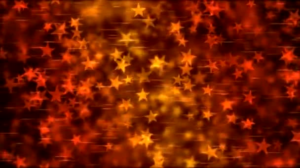 Star Shape Background Animation - Loop Fiery Red