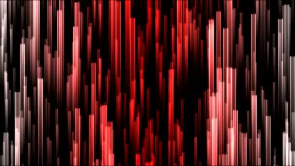 Rostoucí barevné paprsky pozadí animace - červená nit