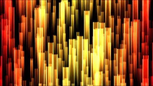 Rostoucí barevné paprsky pozadí animace - smyčka
