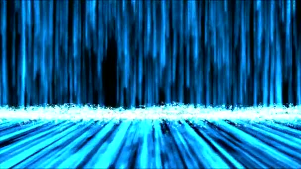 Abstract Colorful Waterfall Animation - Loop Blue