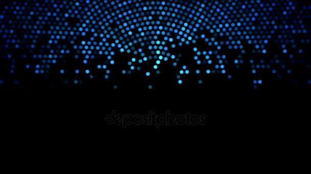 Cerchio colorato luci animazione dallalto - ciclo blu