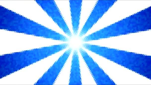 Abstraktní tečkované rotující proužky pozadí animace - Loop modrá