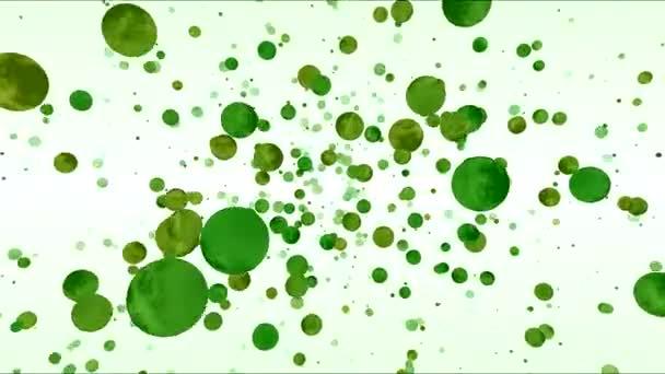 Abstraktní sféry nebo planeta krajina cestování animace - smyčka Green