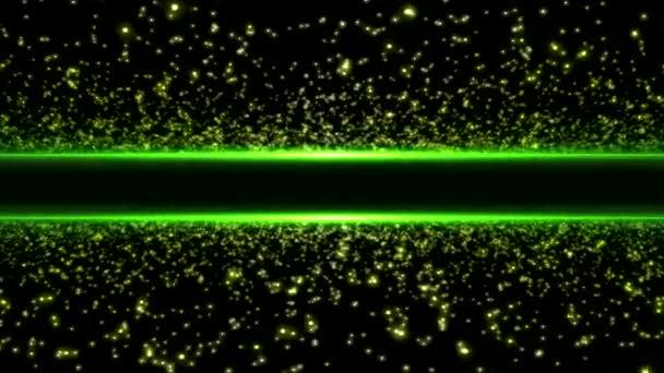 Abstraktní barevné hvězdy a cestování na krajiny světla - zelená bezešvé smyčka