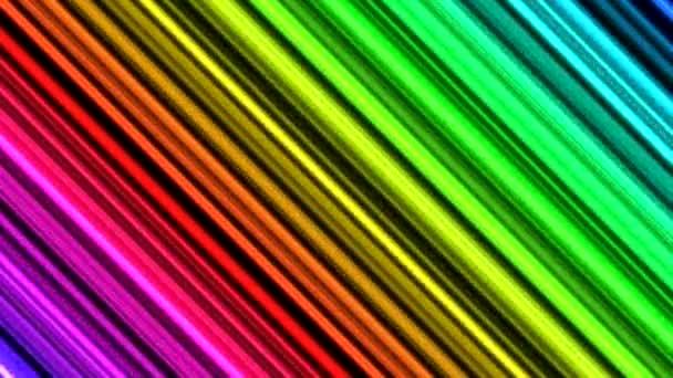 Barevný úhlopříčka nosníky nebo linky pozadí animace - smyčky duha