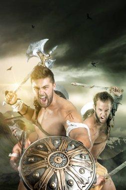 Barbarians group attacking