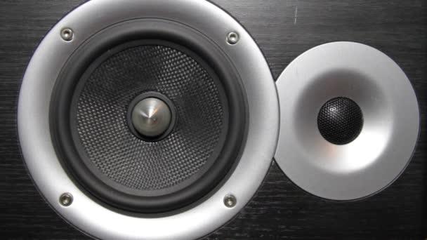 A hangsugárzó membrán zene lejátszása közben a hang oszlopban