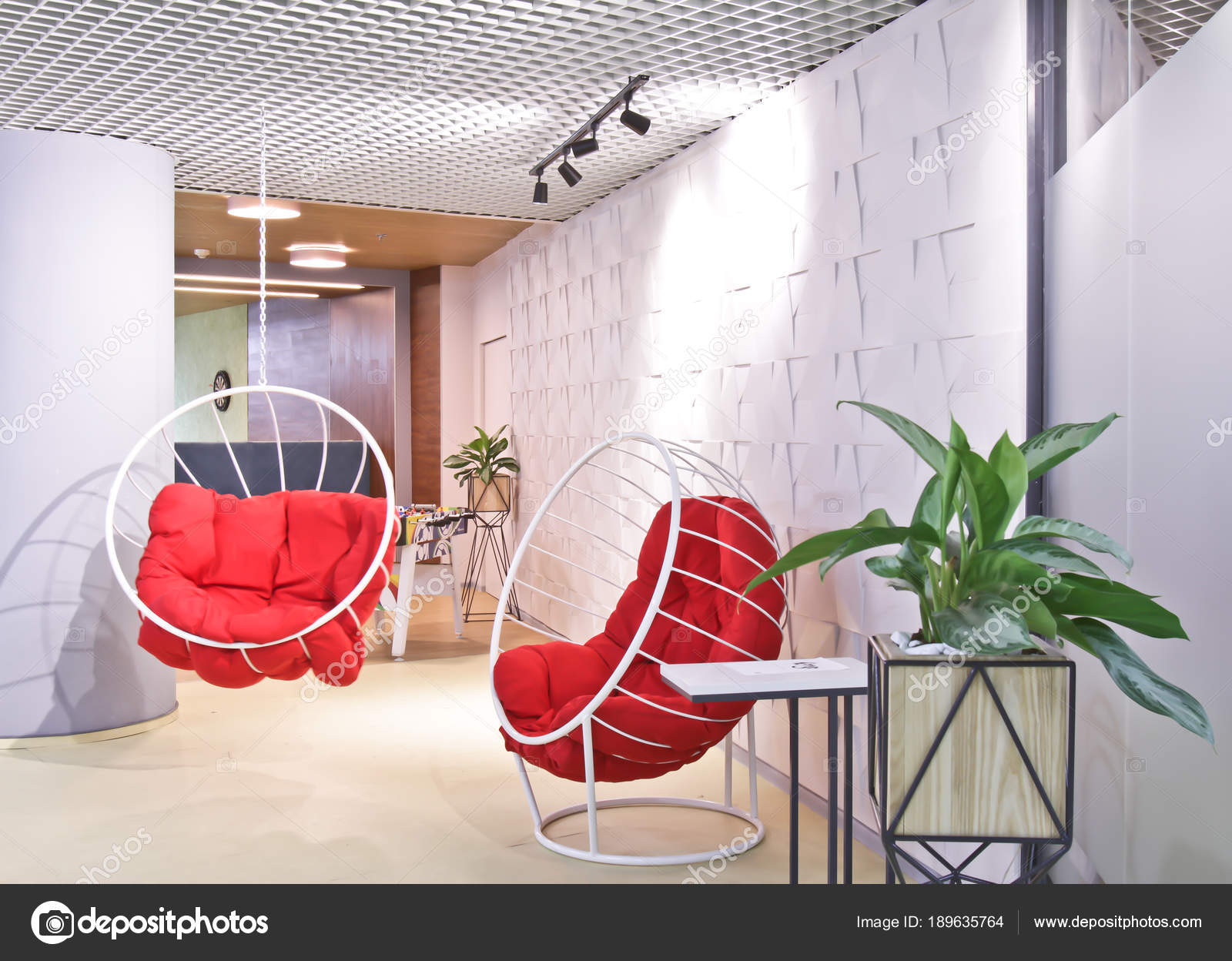 Intérieur de la salle de repos du personnel dans les bureaux