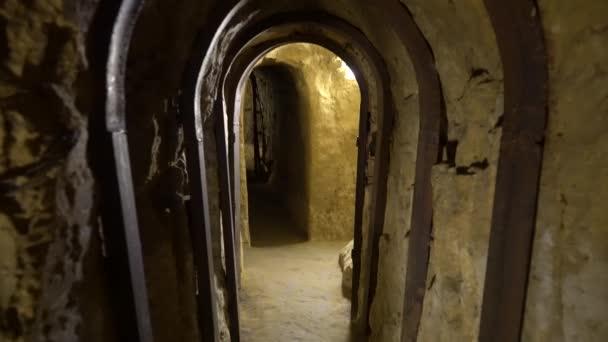 Chernihiv, Ukraine, Elias Church, Internal view of the Anthony Caves. Underground passage in the monastery.
