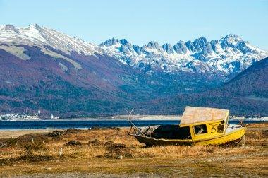 Autumn in Patagonia. Tierra del Fuego, Beagle Channel