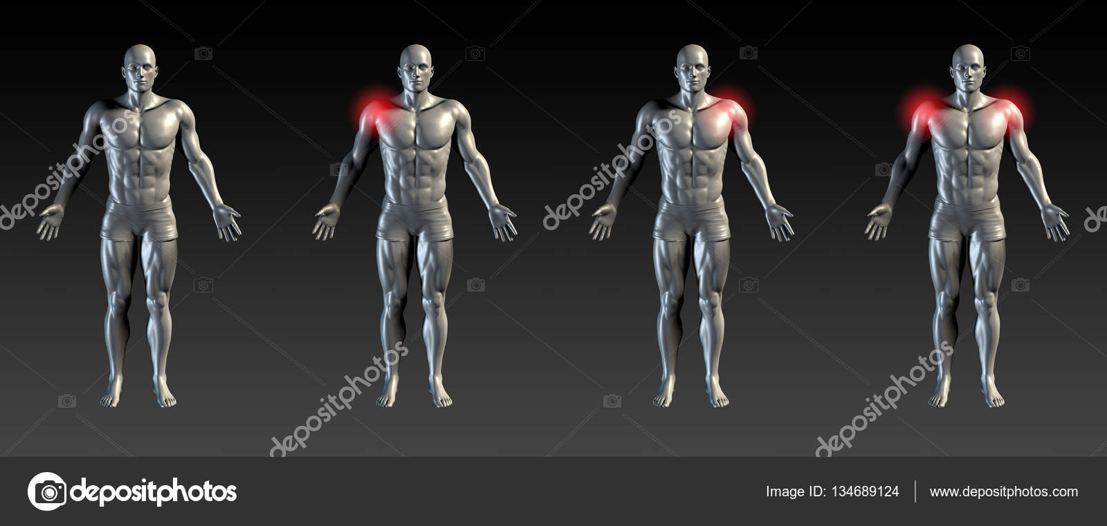 Schulter Verletzung abstrakt — Stockfoto © kentoh #134689124