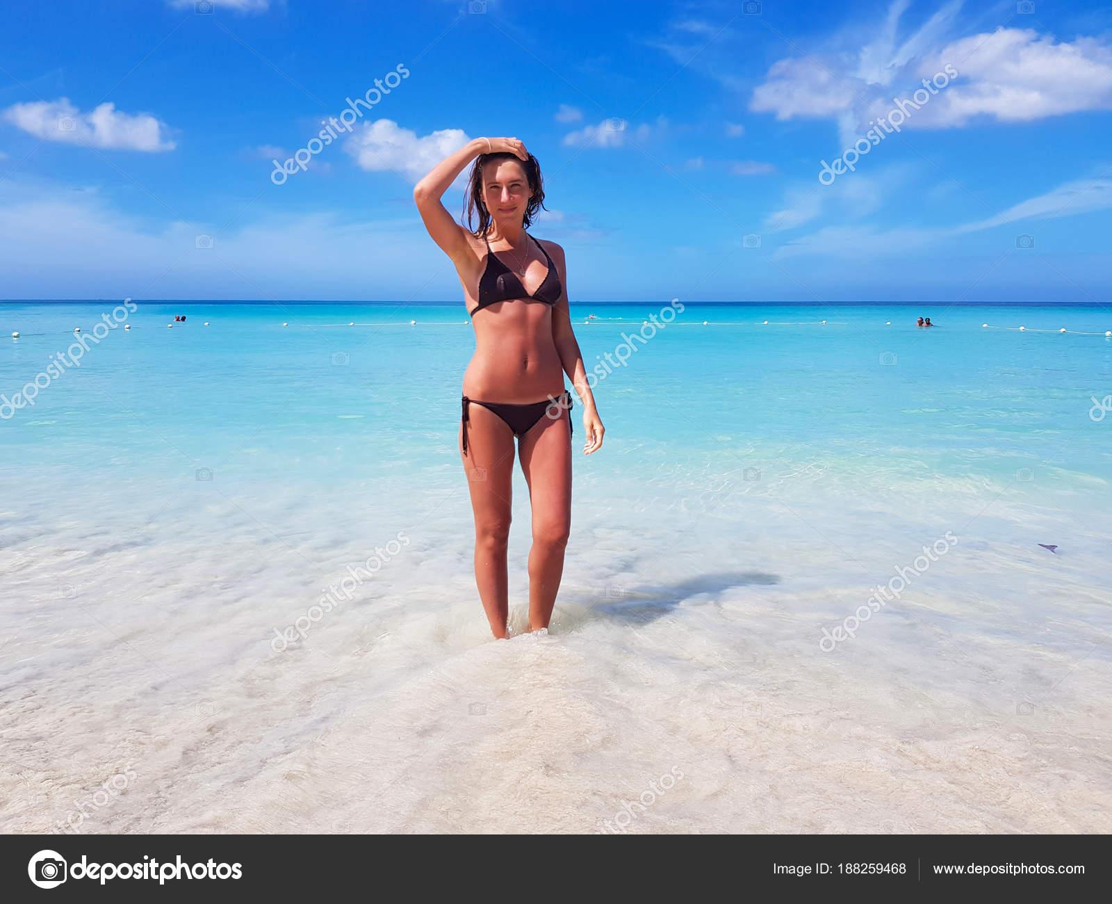 Bikini Jamaica Playa Caribe Mar Lugares Chica Pintoresco lK1FJc