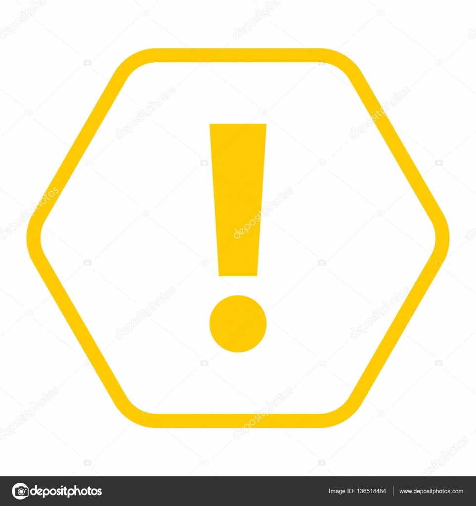 yellow hexagon exclamation mark icon warning sign attention butt stock vect. Black Bedroom Furniture Sets. Home Design Ideas