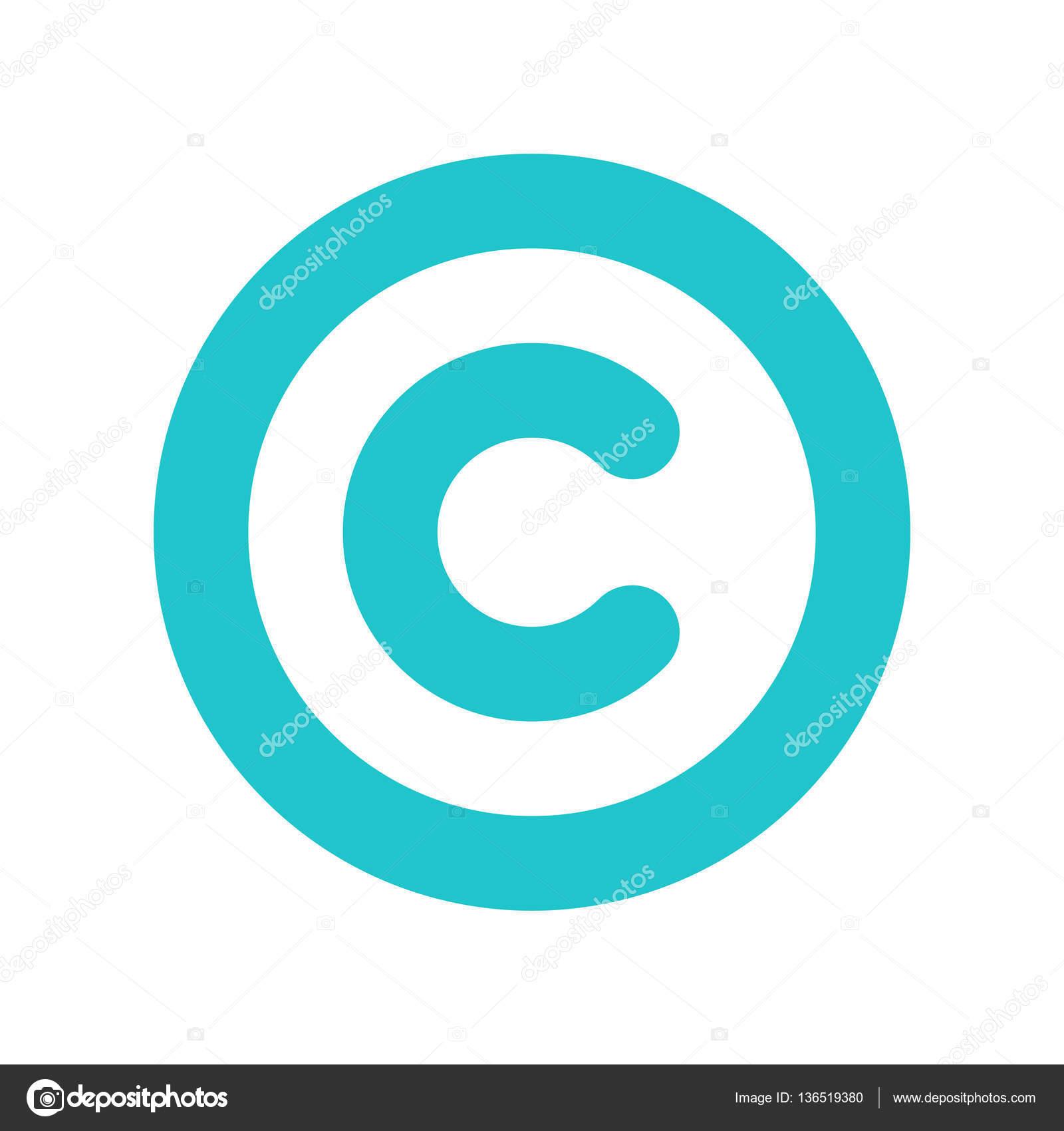 Copyright Symbol Sign Flat Icon Stock Vector Ifeelgood 136519380