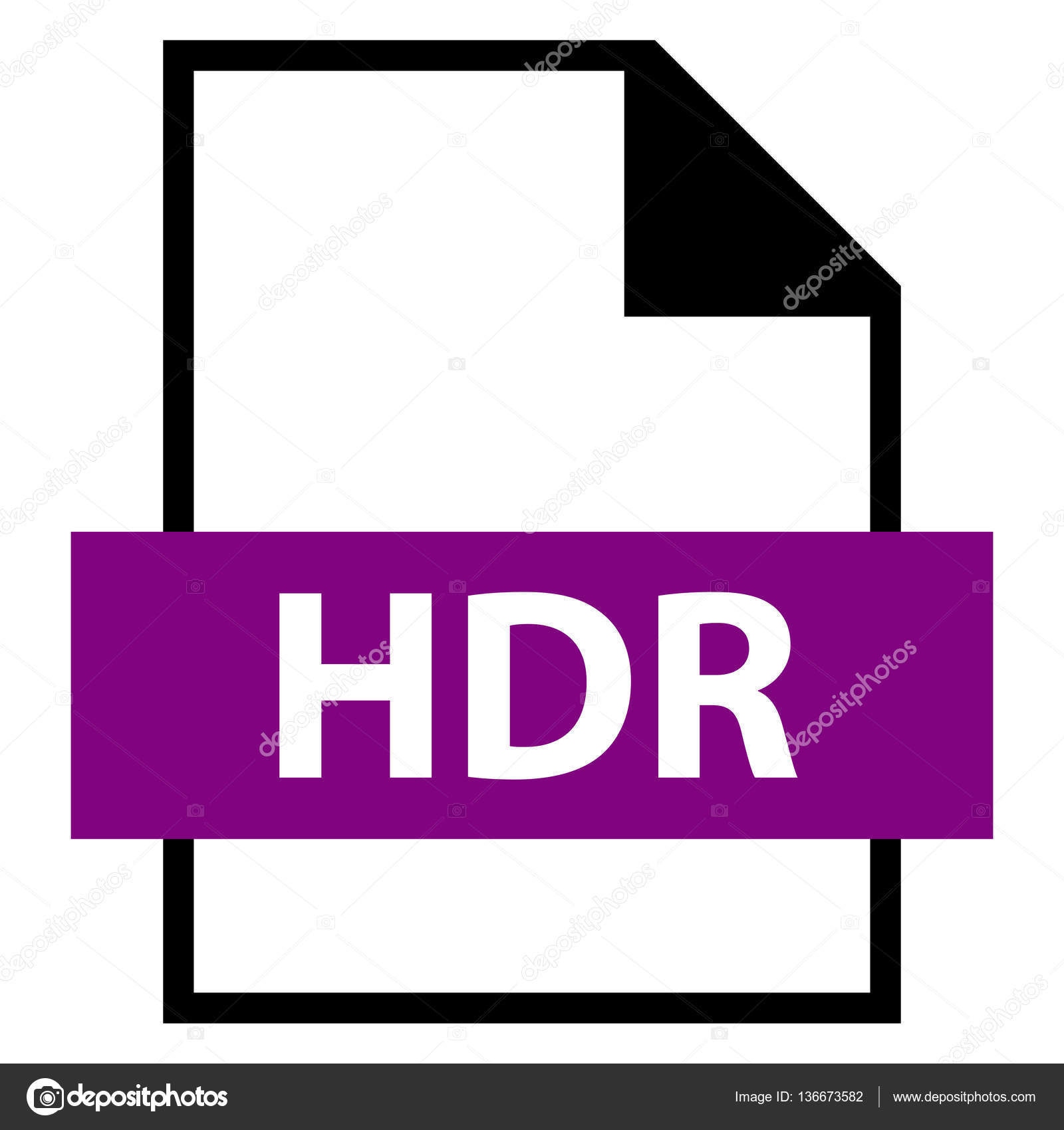 file name extension hdr type stock vector ifeelgood 136673582 rh depositphotos com file extension hdrproject file extension hds