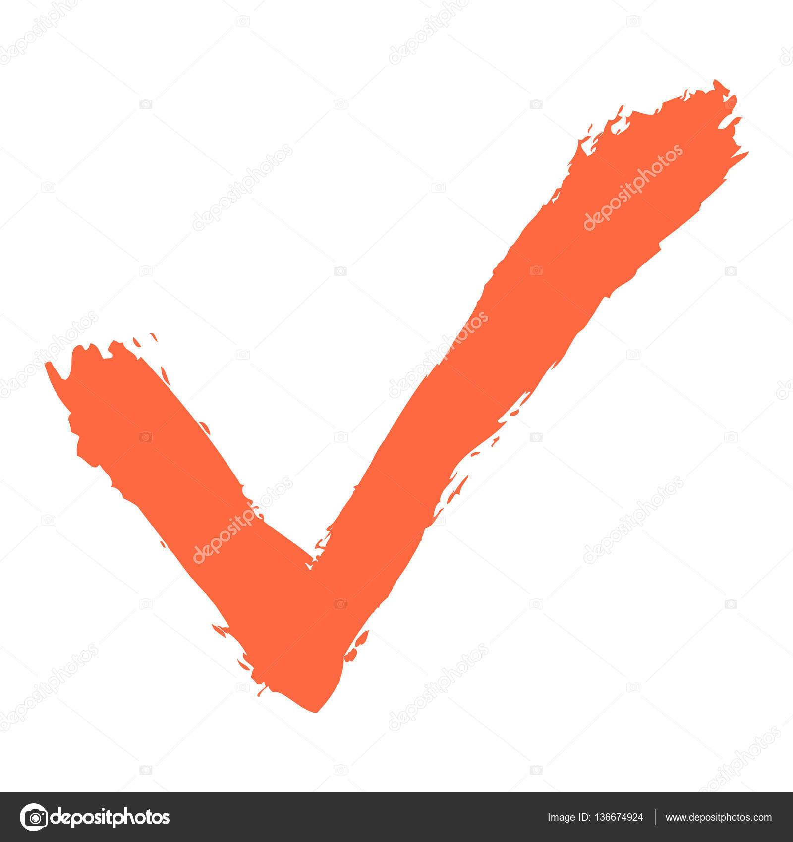Check Mark Symbol Brushstroke Ink Stock Vector Ifeelgood 136674924