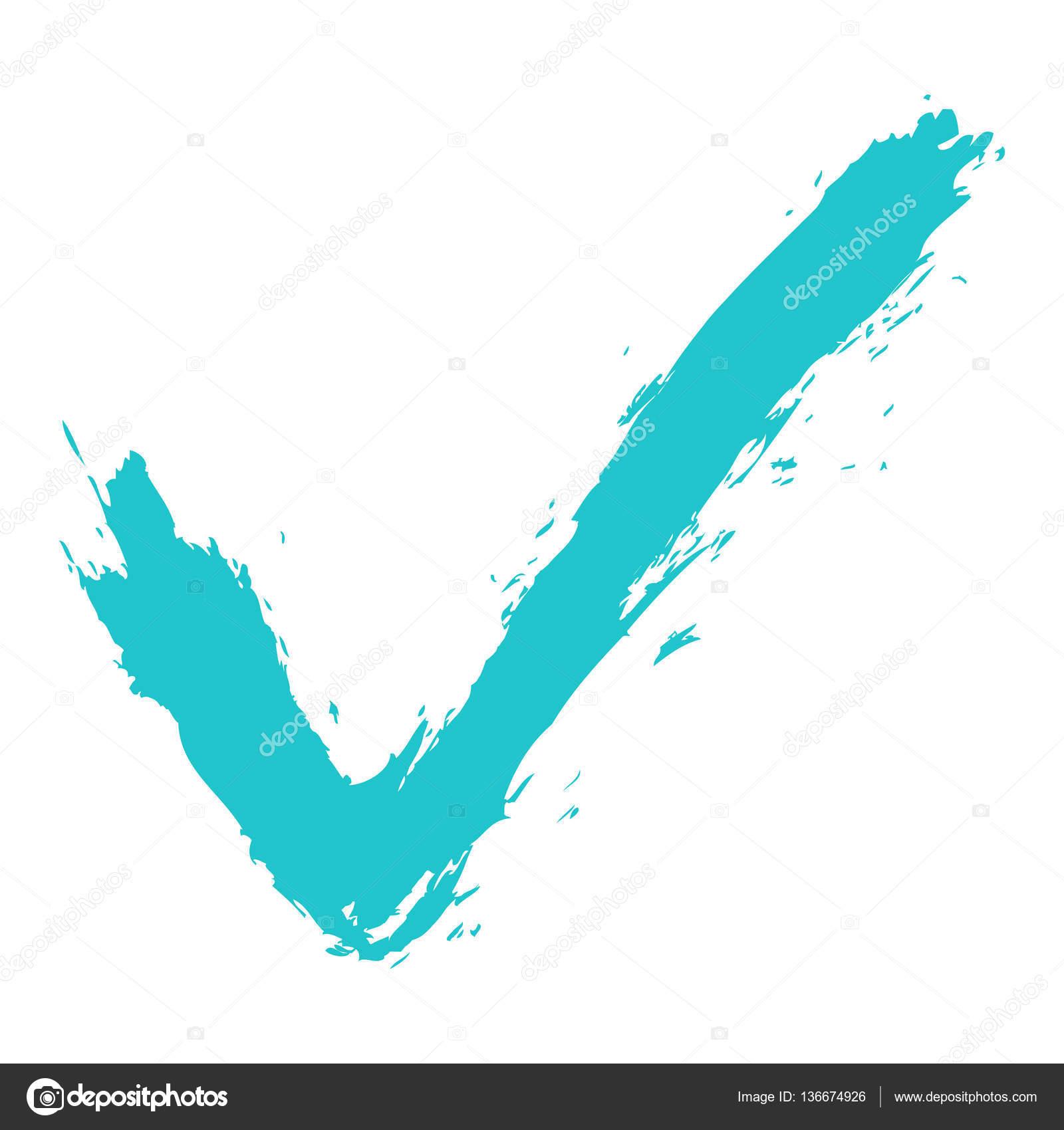 Check Mark Symbol Brushstroke Ink Stock Vector Ifeelgood 136674926