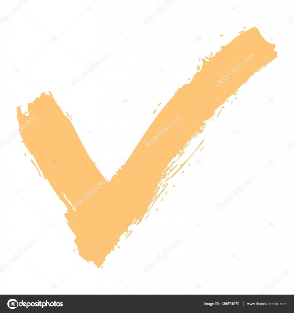 Check Mark Sign Ink Sketch Stock Vector Ifeelgood 136674970