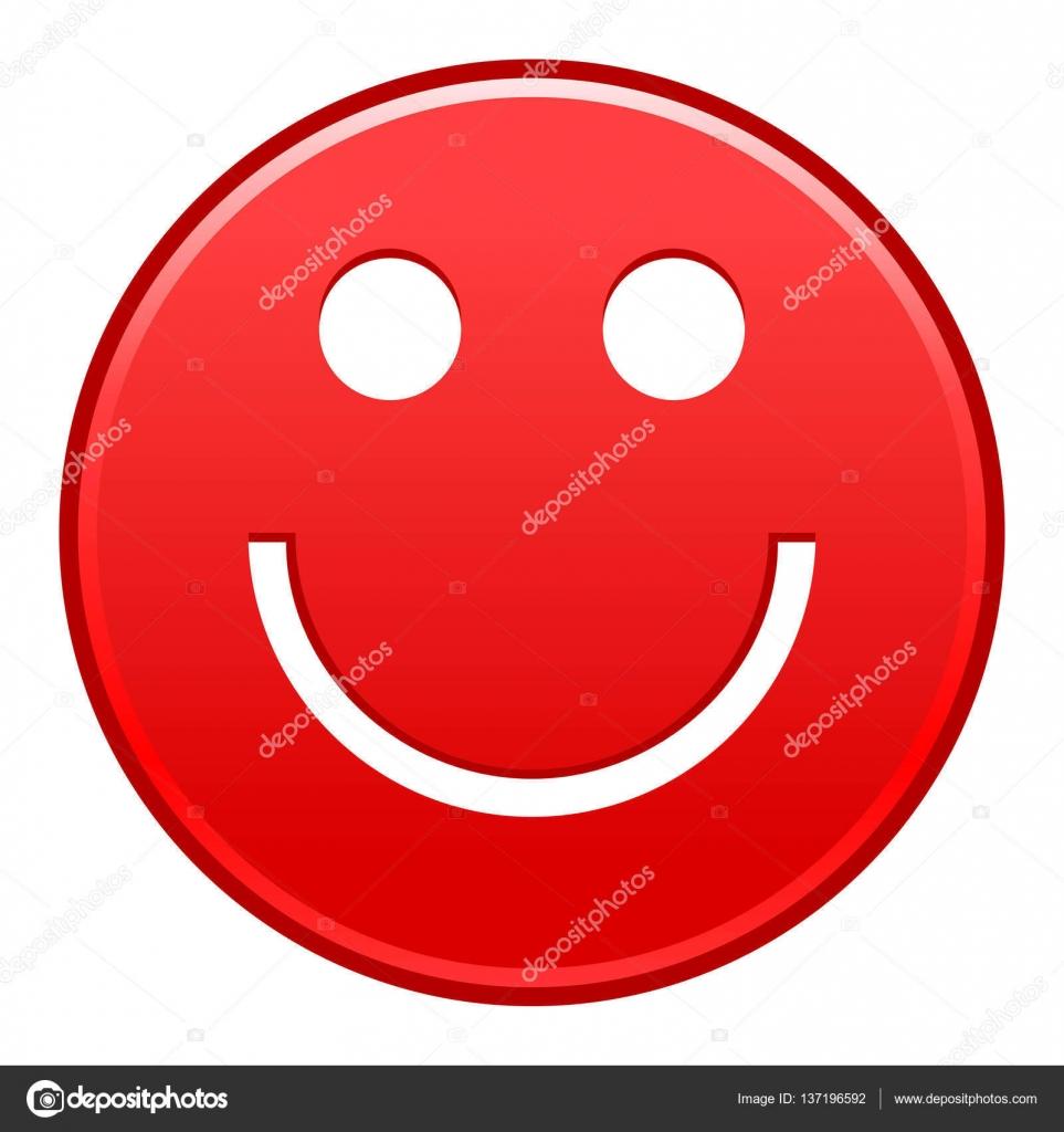 foto de Rouge souriant visage joyeux heureux Émoticône binette Image vectorielle ifeelgood © #137196592