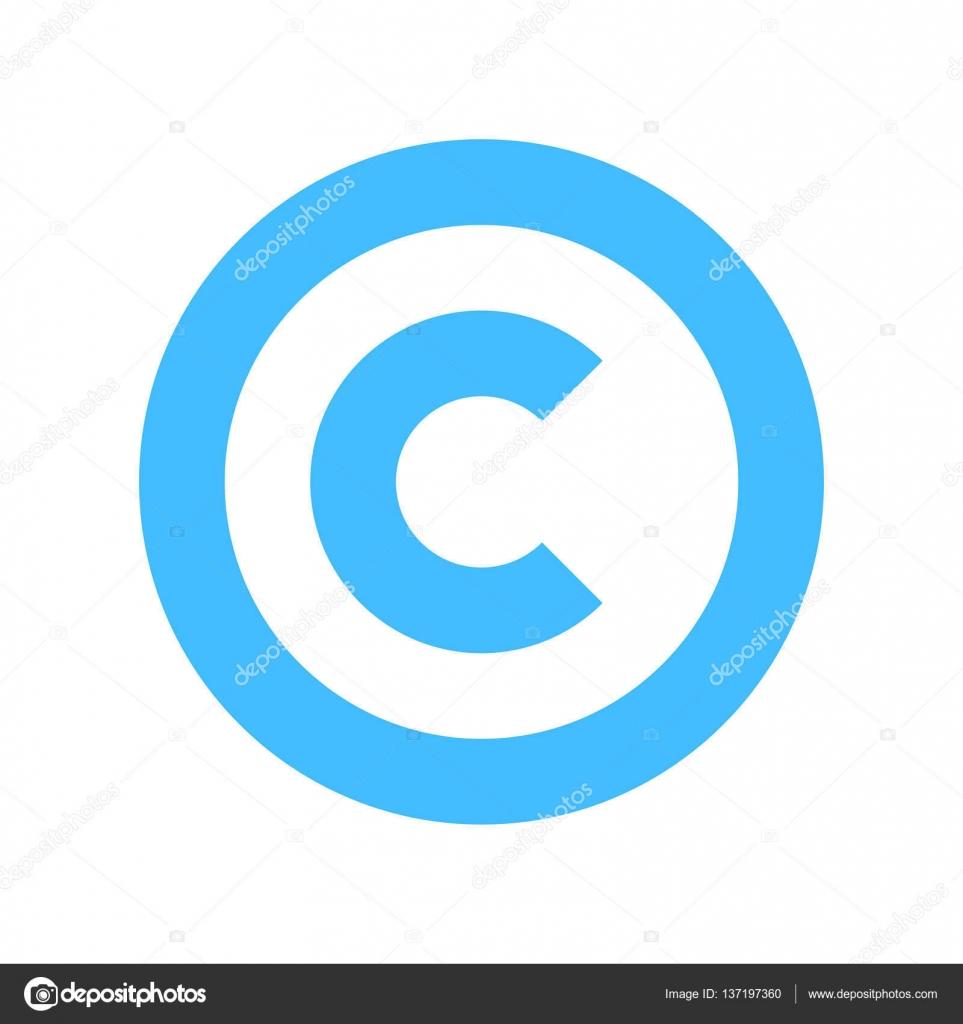 copyright symbol sign flat icon � stock vector 169 ifeelgood