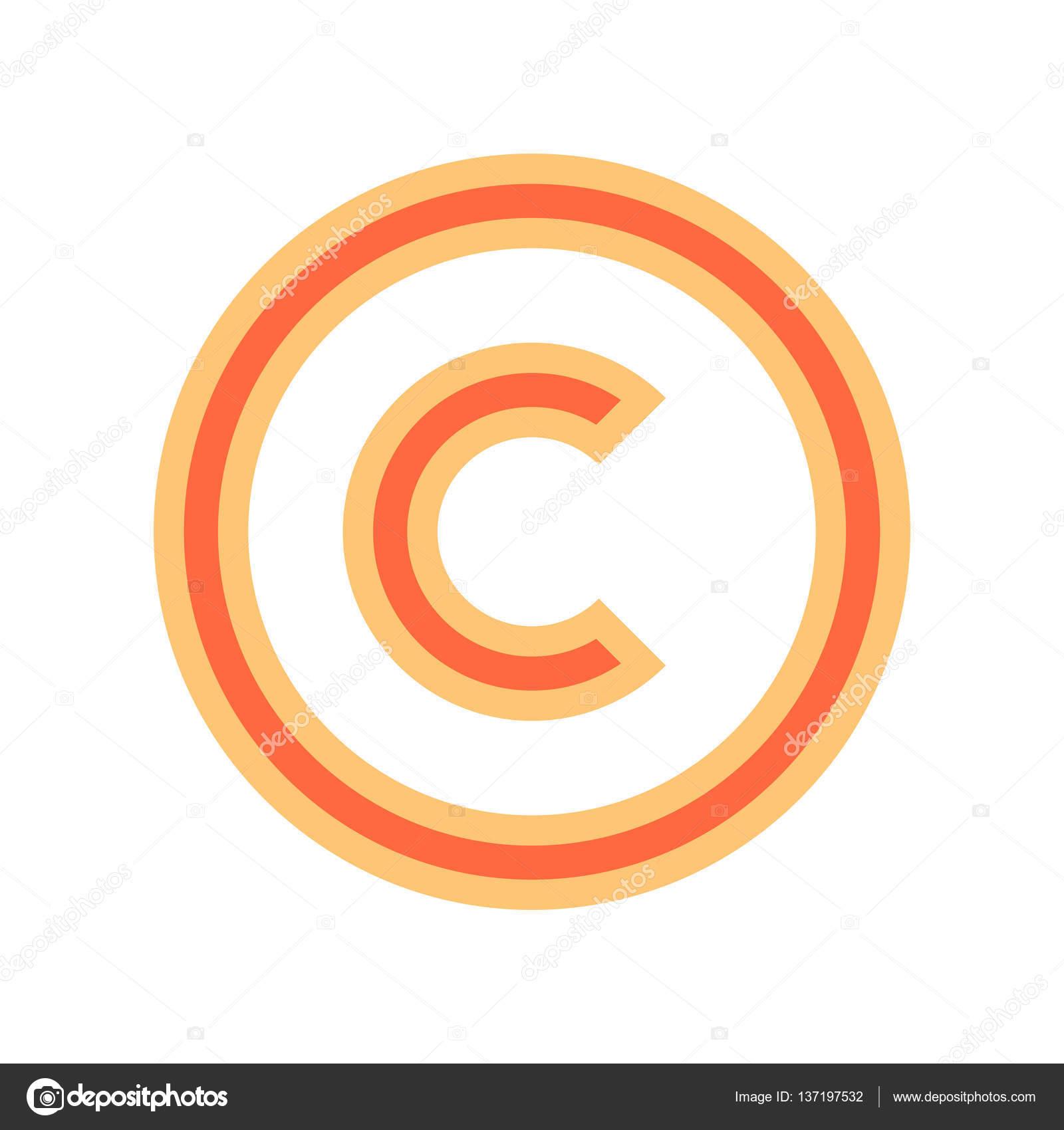 Copyright Symbol Sign Stock Vector Ifeelgood 137197532