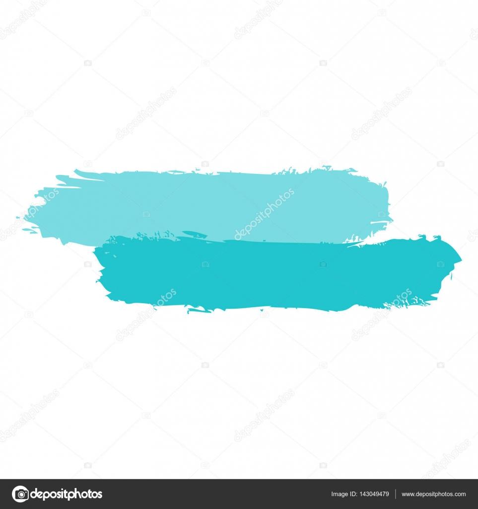 Zwei grüne Färbung Pinselstrich malen — Stockvektor © ifeelgood ...
