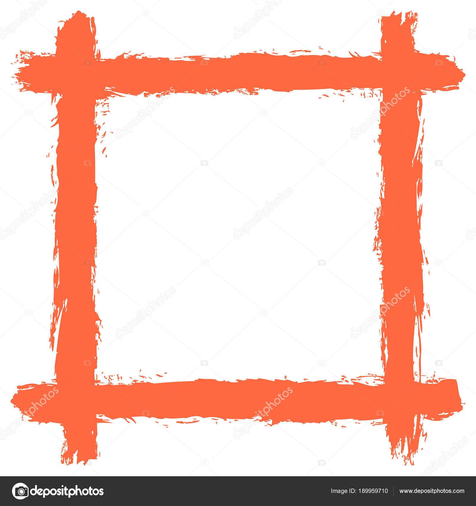 Marco en blanco por la textura de la pincelada — Archivo Imágenes ...