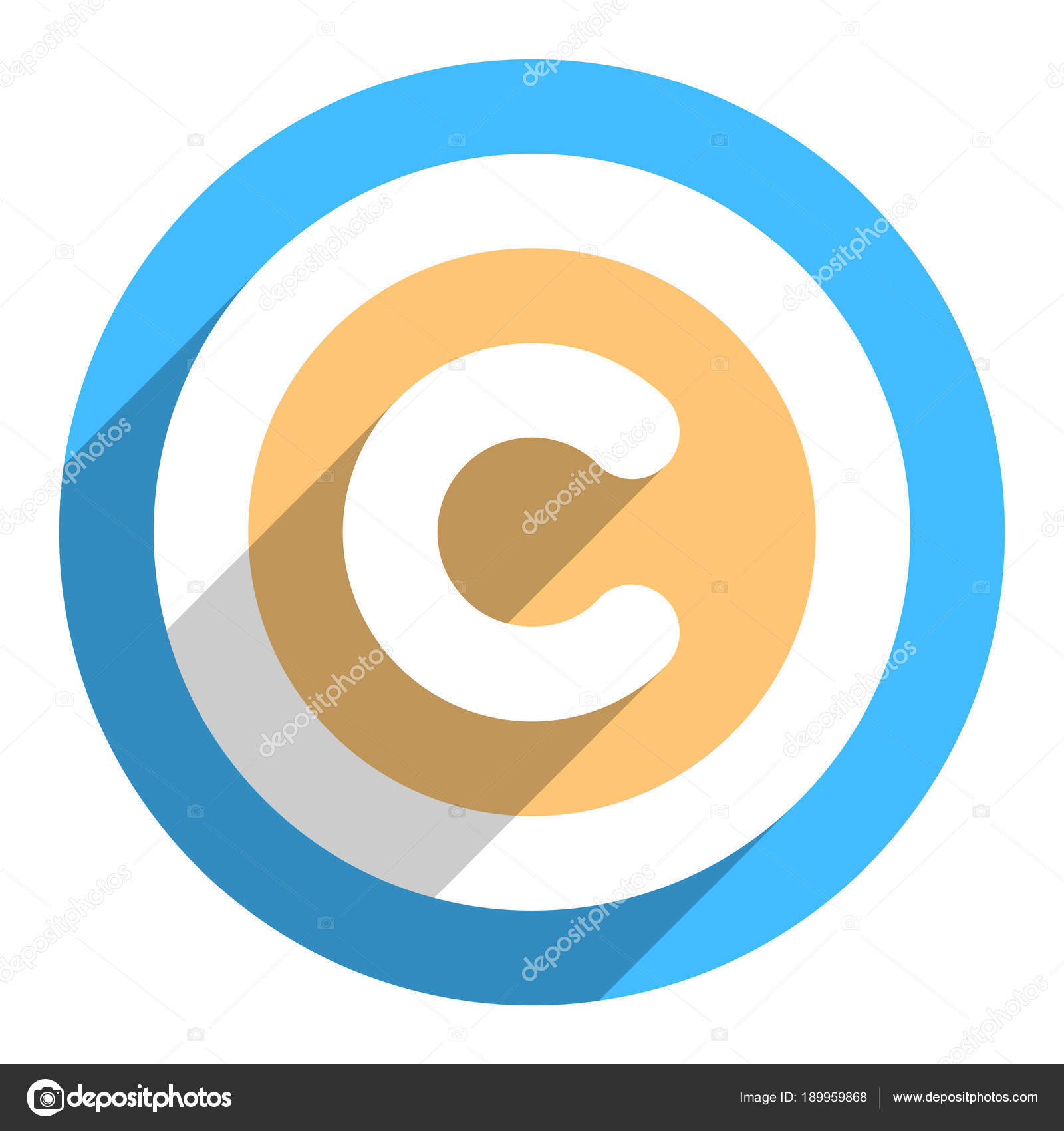 Copyright Symbol Or Copyright Sign In Flat Style Stock Vector