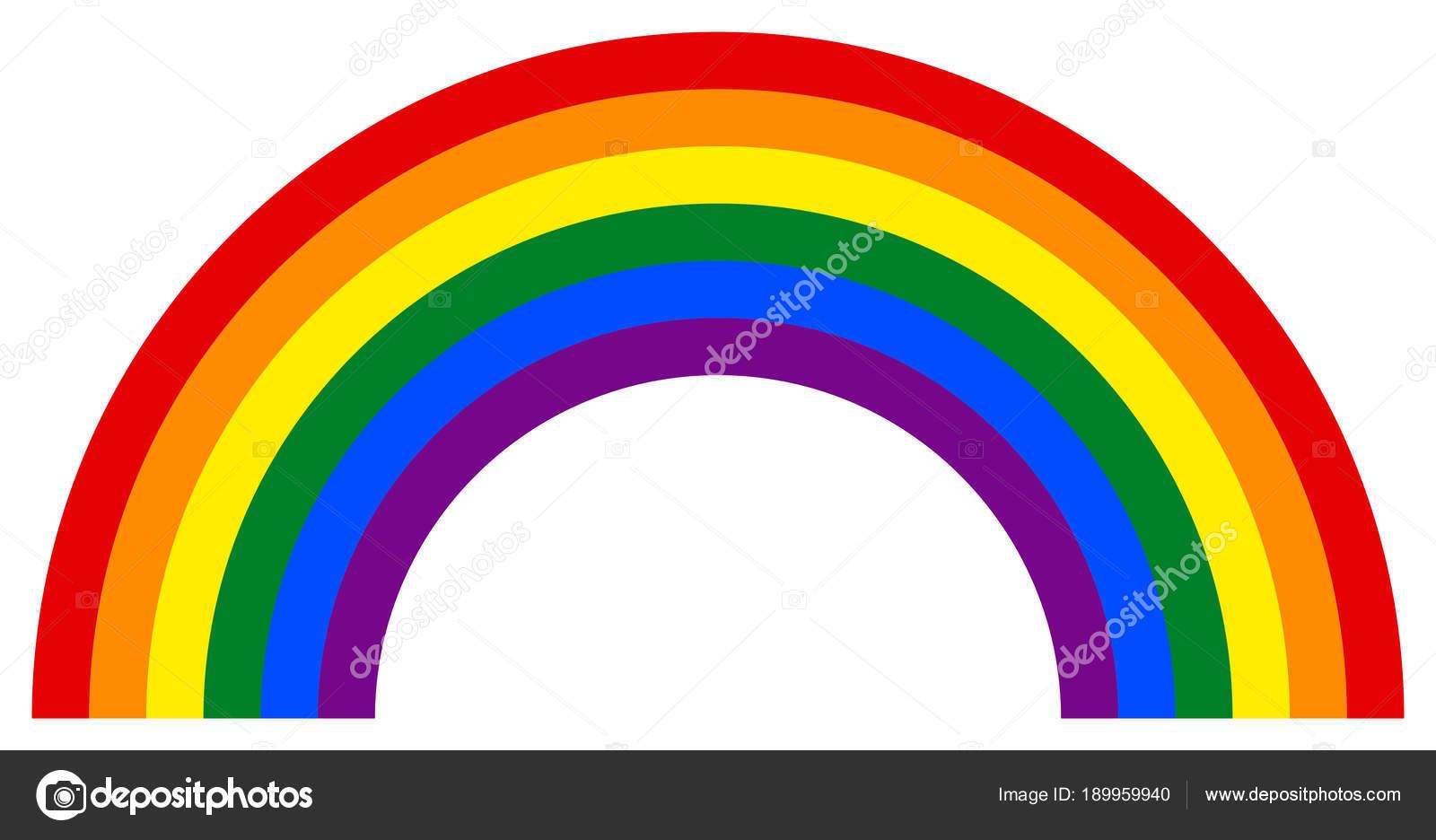 Regenbogen Symbol In Der Lgbt Bewegung Farben Stockvektor