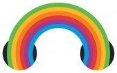 Fotografia Icona di arcobaleno multicolore nastro