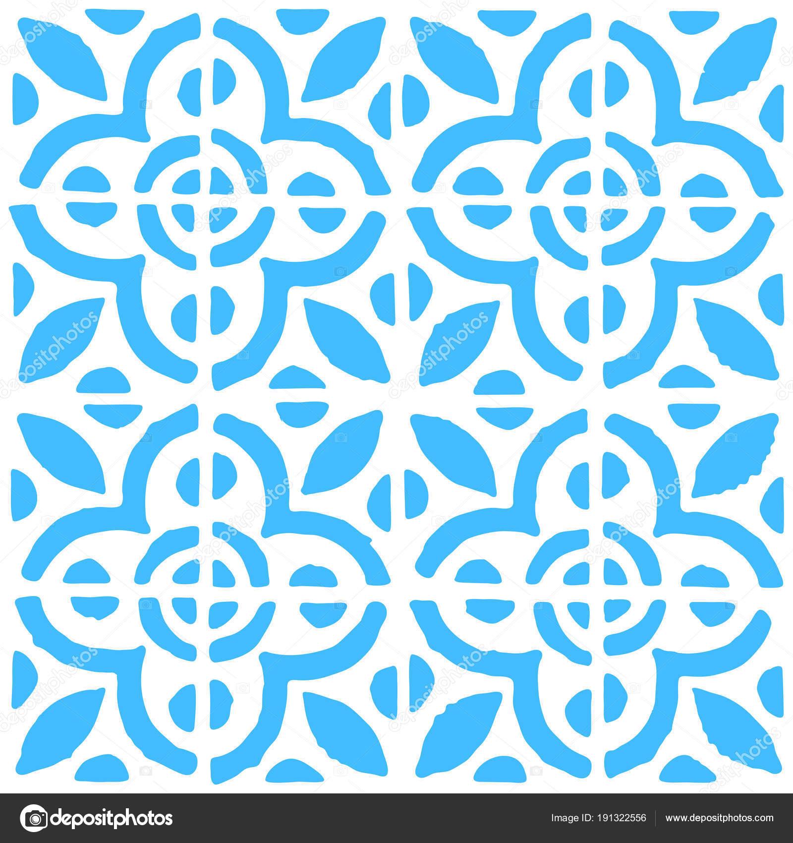 Nahtlose Muster mit niederländischen Ornamente in Delft Küche ...