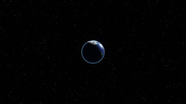 3D 4k rotující Země - zaměřte se na Evropu. Prvky tohoto snímku poskytla Nasa