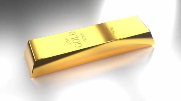 Gold ingot - treasure/ wealth concept - 4k 3D animation